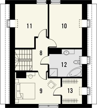 Projekt domu Pionier 2 - rzut poddasza