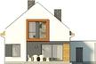 Projekt domu Pionier 3 - elewacja tylna