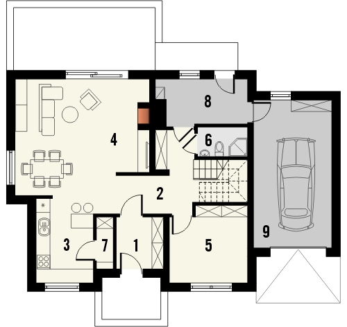 Projekt domu Marzenie 2 - rzut parteru