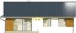 Projekt domu Juka - elewacja tylna