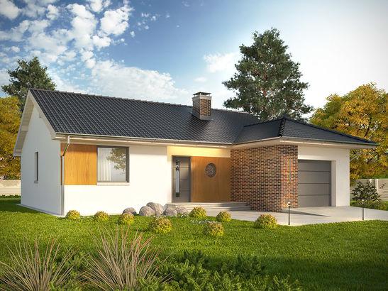 Projekt domu Juka - widok 1