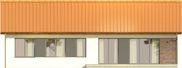 Projekt domu Danta 2 - elewacja tylna