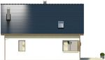 Projekt domu Asana - elewacja tylna