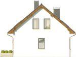 Projekt domu Asana - elewacja boczna 2