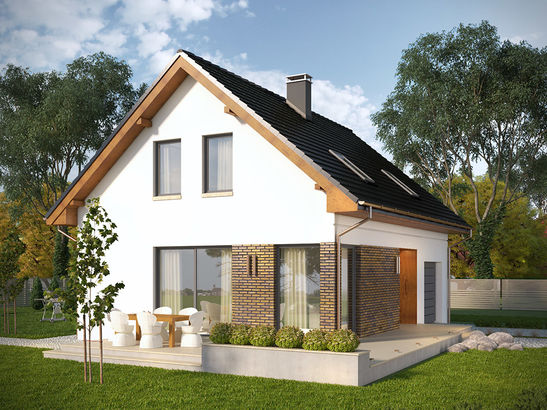 Projekt domu Asana - widok 2
