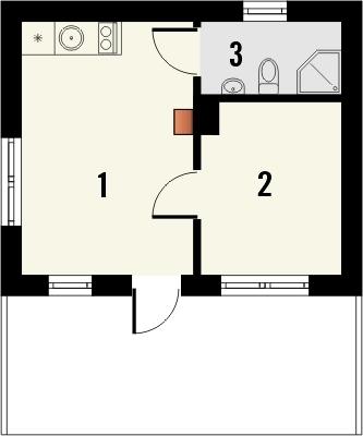 Projekt domu Domek 1 - rzut parteru
