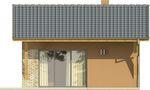 Projekt domu Domek 2 - elewacja tylna