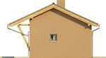 Projekt domu Domek 2 - elewacja boczna 2