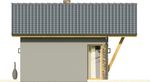 Projekt domu Domek 3 - elewacja boczna 1