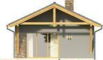 Projekt domu Domek 3 - elewacja tylna
