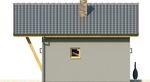 Projekt domu Domek 3 - elewacja boczna 2