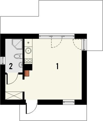 Projekt domu Domek 3 - rzut parteru