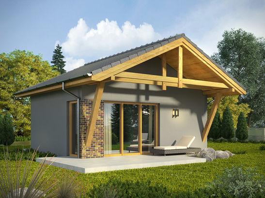Projekt domu Domek 3 - widok 1
