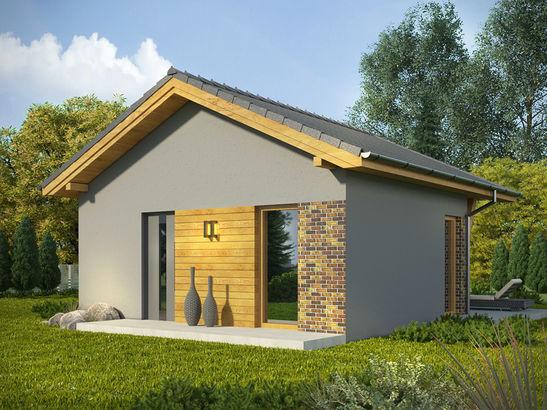 Projekt domu Domek 3 - widok 2