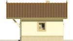 Projekt domu Domek 4 - elewacja boczna 1