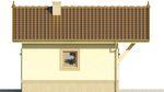 Projekt domu Domek 4 - elewacja boczna 2