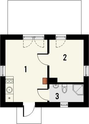 Projekt domu Domek 4 - rzut parteru