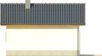 Projekt domu Domek 5 - elewacja tylna