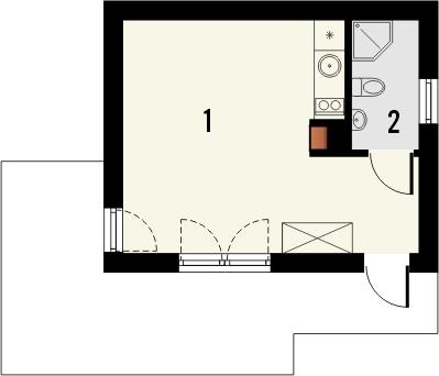 Projekt domu Domek 5 - rzut parteru