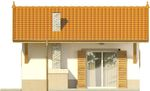 Projekt domu Domek 6 - elewacja boczna 1