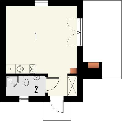 Projekt domu Domek 6 - rzut parteru