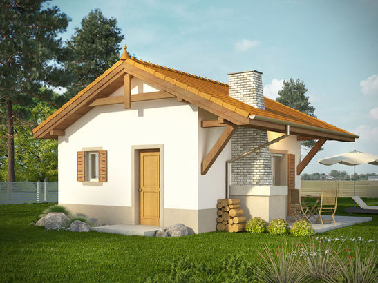 Projekt domu Domek 6 - widok 2