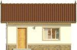 Projekt domu Domek 7 - elewacja przednia
