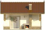 Projekt domu Domek 7 - elewacja tylna