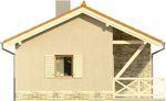Projekt domu Domek 8 - elewacja boczna 1