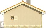 Projekt domu Domek 8 - elewacja boczna 2