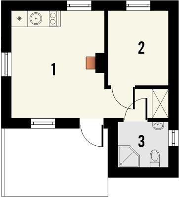 Projekt domu Domek 8 - rzut parteru