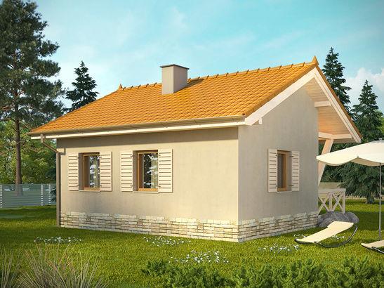 Projekt domu Domek 8 - widok 1