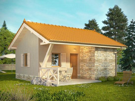 Projekt domu Domek 8 - widok 2