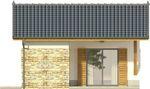 Projekt domu Domek 9 - elewacja boczna 1