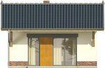 Projekt domu Domek 10 - elewacja tylna