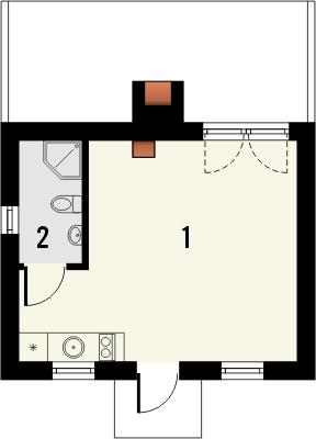 Nowoczesna architektura Projekt domu do 35m2 na zgłoszenie, bez pozwolenia na budowę MU28