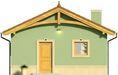 Projekt domu Domek 12 - elewacja przednia