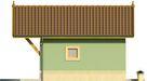 Projekt domu Domek 12 - elewacja boczna 1