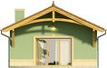 Projekt domu Domek 12 - elewacja tylna