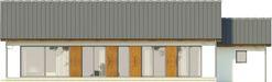 Projekt domu Avatar - elewacja tylna