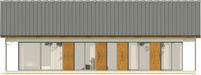 Projekt domu Avatar 2 - elewacja tylna