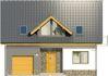 Projekt domu Tetris - elewacja przednia