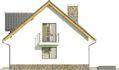 Projekt domu Tetris 2 - elewacja boczna 1