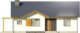 Projekt domu Aloes - elewacja przednia