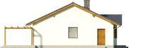 Projekt domu Aloes - elewacja boczna 2