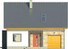 Projekt domu Iskra 3 - elewacja przednia