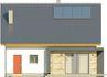 Projekt domu Iskra 3 - elewacja tylna