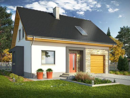 Projekt domu Iskra 3 - widok 1