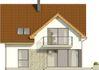 Projekt domu Riva - elewacja tylna