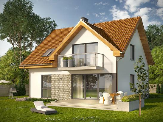 Projekt domu Riva - widok 1